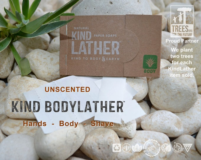 Zero Waste UNSCENTED Natural Body Wash – Biodegradable Soap Sheets. Perfect for Travel, All Outdoor Adventures & Every Public Restroom