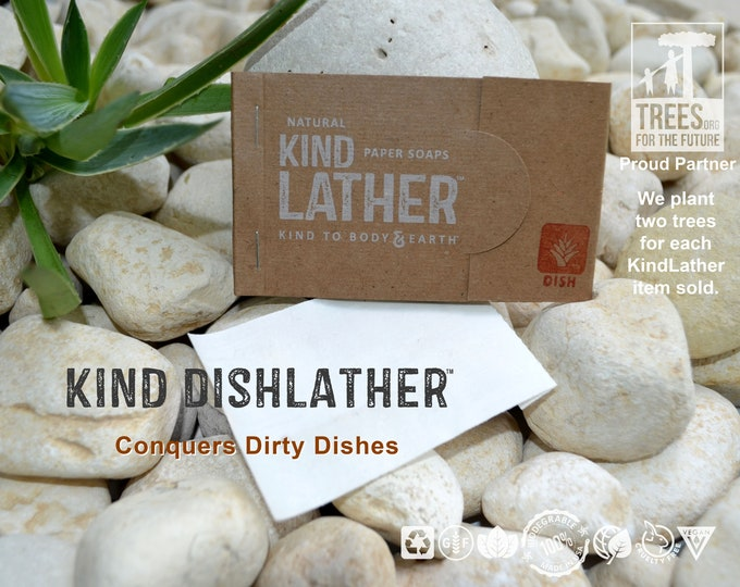 Zero Waste Natural Dish Soap – Outdoor Safe Biodegradable Soap Sheets - Perfect for BIKEpacking, Camping & All Outdoor Adventures