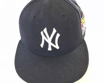 4660f4f4c988c New York Yankees New Era 59 50 Authentic Diamond Collection 7 MLB Hat 100%  Wool
