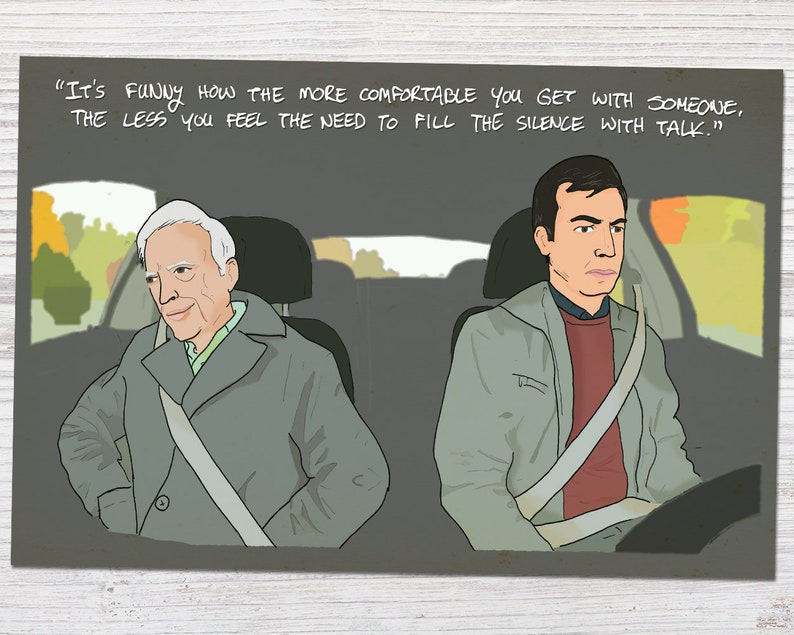 Nathan For You - Season 4 - Finding Frances Comfortable Silence Quote -  Driving - Fanart | Art Print (4x6, 5x7 or 8x10)