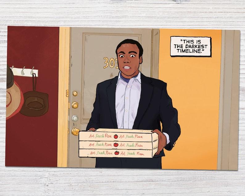 Community - Season 3 - Darkest Timeline Scene - Donald Glover as Troy  Barnes | Handmade Art Print (4x6, 5x7 or 8x10)