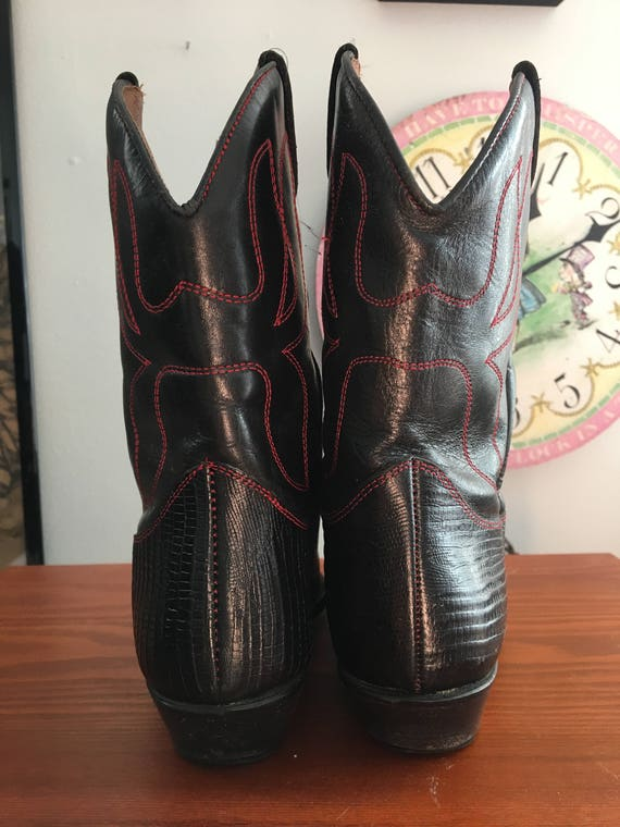 1990s Flings ankle cowboy boots with cutout detai… - image 5