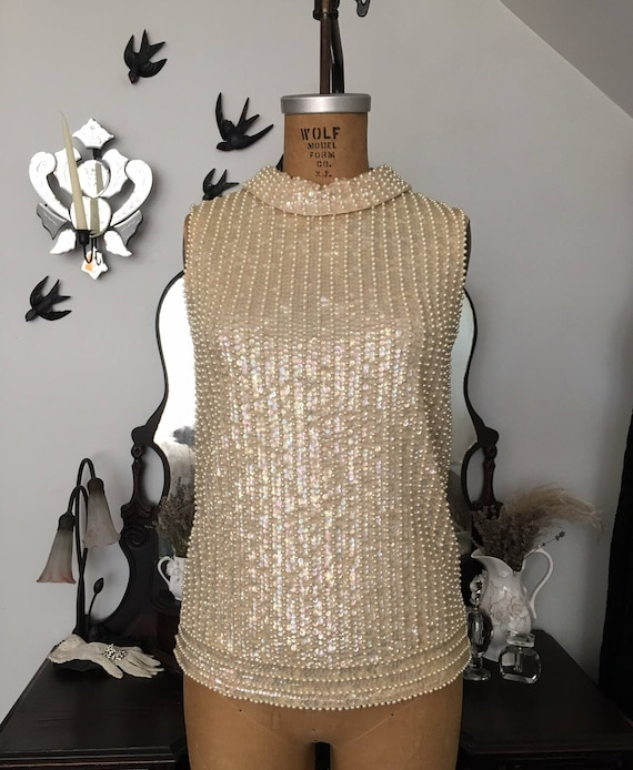 late 1950s/early 1960s Saks Fifth Avenue beaded bl