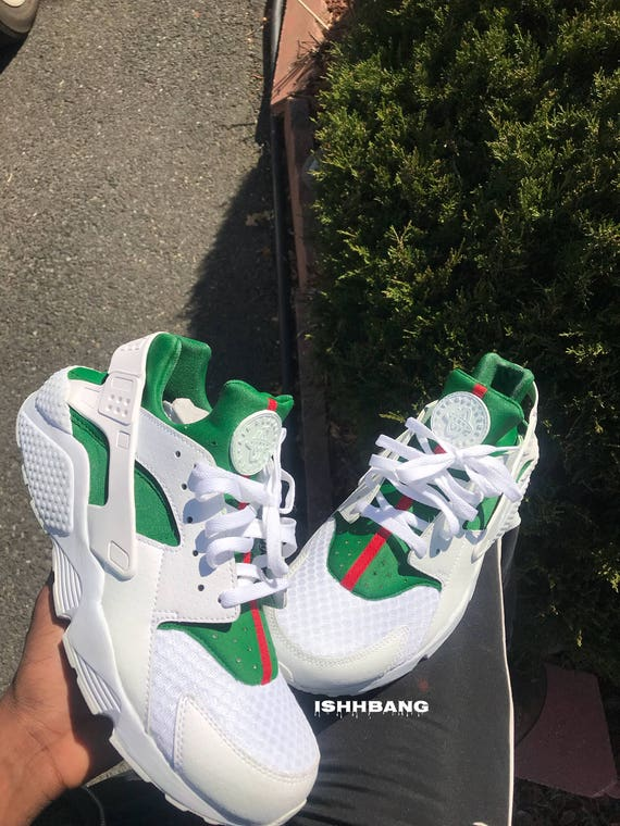 Gucci Huarache Customized Triple White Custom Inspired Huaraches