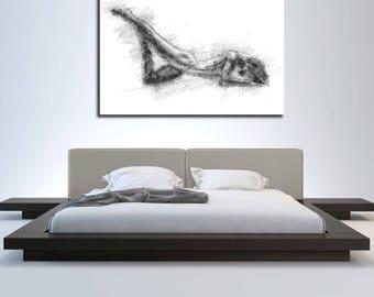 canvas art bedroom wall decor elegant contemporary abstract etsy rh etsy com bedroom canvas art sets cheap bedroom canvas art