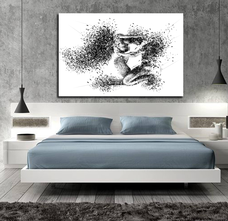 Bedroom Canvas Wall Art Uk: CANVAS ART His & Hers Bedroom Wall Art Abstract Art Canvas