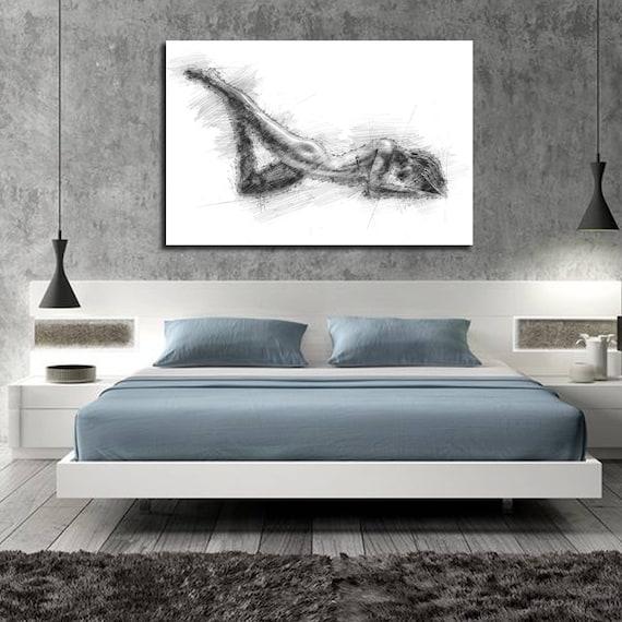 Leinwand kunst schlafzimmer wand dekor elegante etsy - Elegante schlafzimmer ...