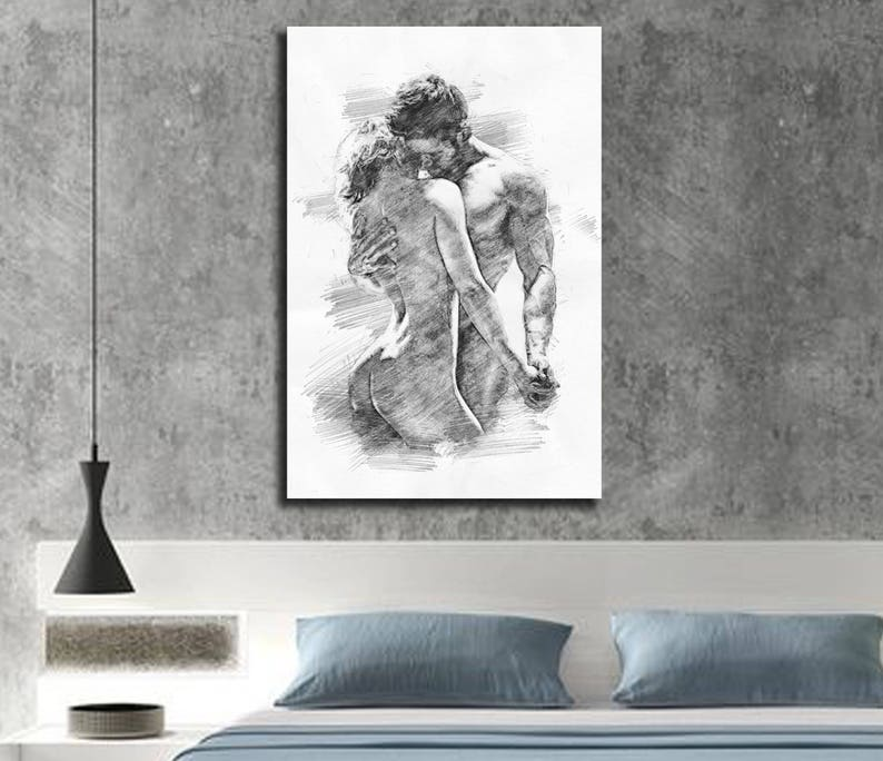 Canvas Print His Hers Bedroom Wall Decor Master Bedroom Etsy