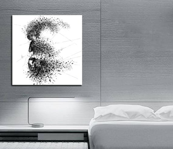 Leinwand Kunst sinnlich Schlafzimmer elegante abstrakten | Etsy