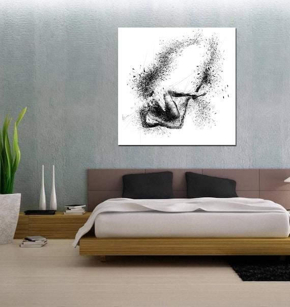 Leinwand Kunst ihr Schlafzimmer-Wand-Kunst abstrakte | Etsy