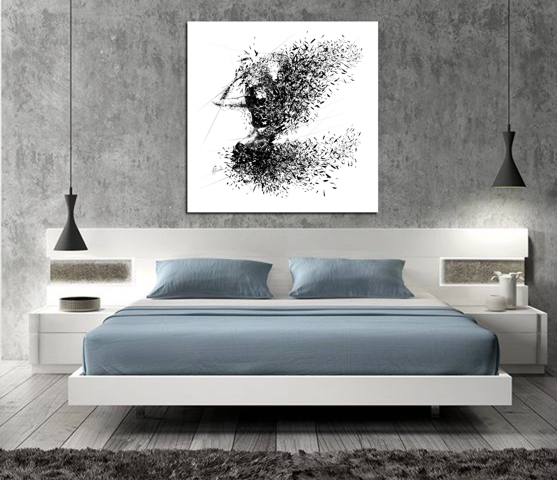 CANVAS ART Sensual Bedroom Art Elegant Minimalist Abstract