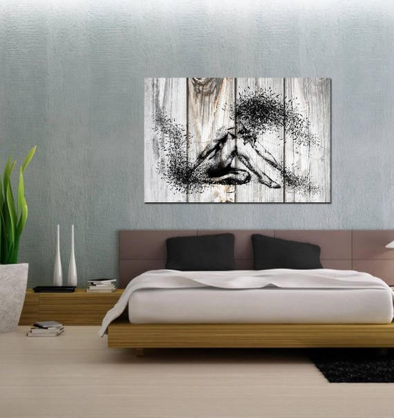 CANVAS ART Sensual Bedroom Wall Decor Minimalist Abstract | Etsy