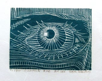 Contour Eye - Wood Engraving
