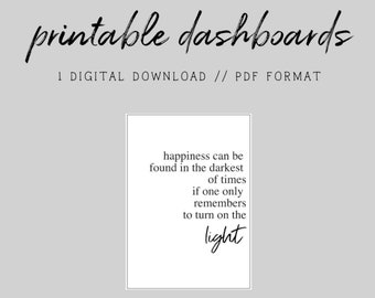 MINI HP // HP Light // Digital Printable Dashboard