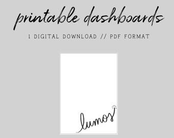 MINI HP // Lumos Doodle // Digital Printable Dashboard