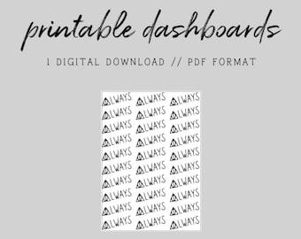 MINI HP // HP Always Doodle // Digital Printable Dashboard