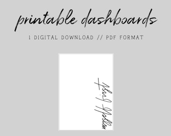 MINI HP // Myself First // Digital Printable Dashboard