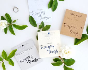 25 Happy Tears Wedding Tissue Packs | For Your Happy Tears Wedding Favors for Guests