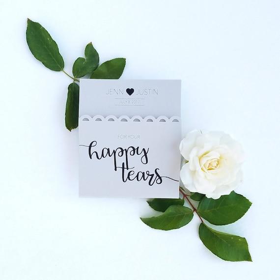 Boda favores para la novia y el novio tejidos-Feliz lágrimas