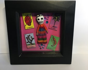 mexican loteria box frame