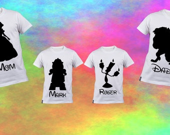 Disney Family Shirt Decals - Customizable Iron-On Decals