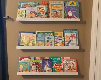 Floating Shelves, Ledge Shelf, Kids Books, Wooden Shelves, Bookshelf,  Gallery Wall, Picture Ledge, Gutter Shelf, Wall Shelf, Rustic Decor