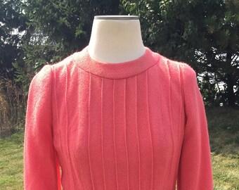 1960's mauve long sleeve dress