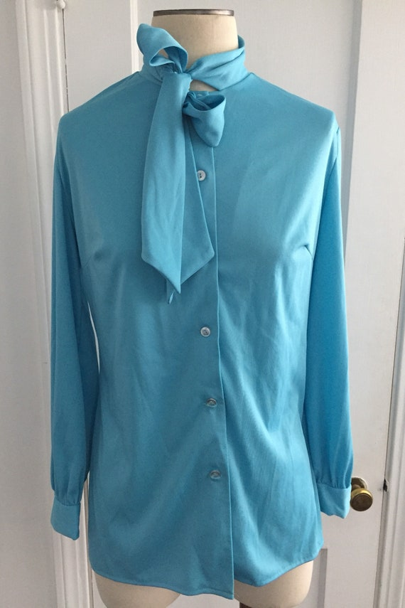 1970's secretary blouse