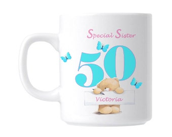 50th Birthday Personalised Special Sister