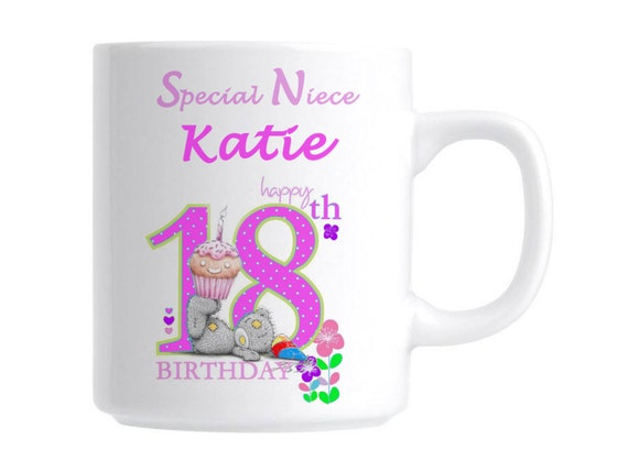 18th Personalised Birthday Special Niece Novelty Gift Mug