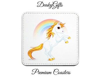 Set of 2 Unicorn Coasters