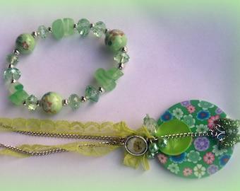 SET of spring * necklace and bracelet