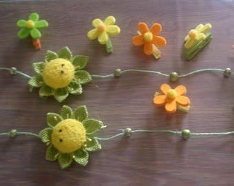 Set of spring decoration