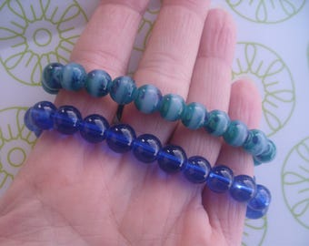 SUMMER BRACELETS glass beads * set of 2