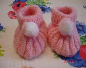 baby booties pink baby girl.
