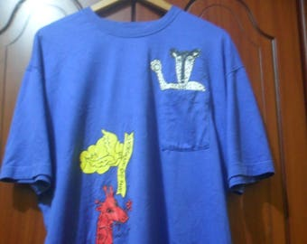 Vintage Castelbajac T shirt//French fashion designer//size L//made in Japan UqMWW0B3