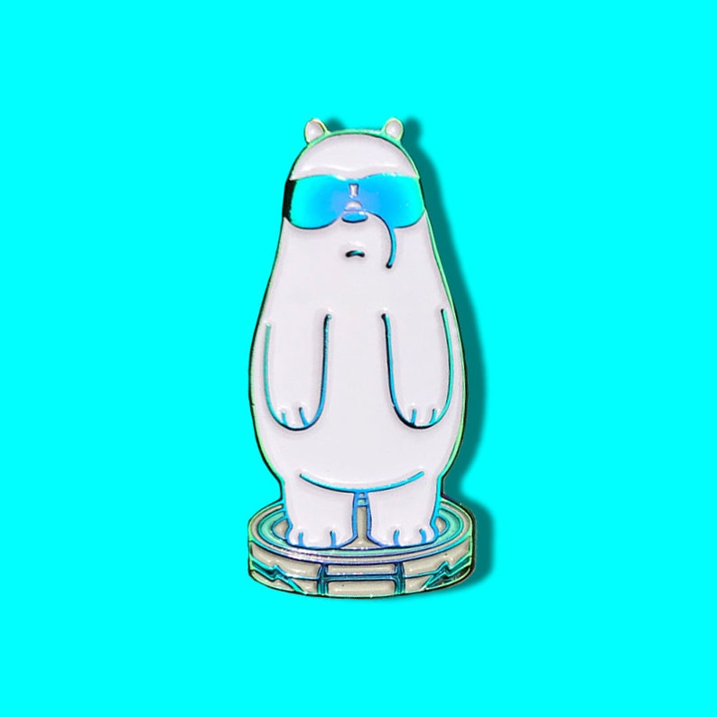 3e859b2ad74 We Bare Bears Ice Bear Roomba Soft Enamel Pin WBB Cute
