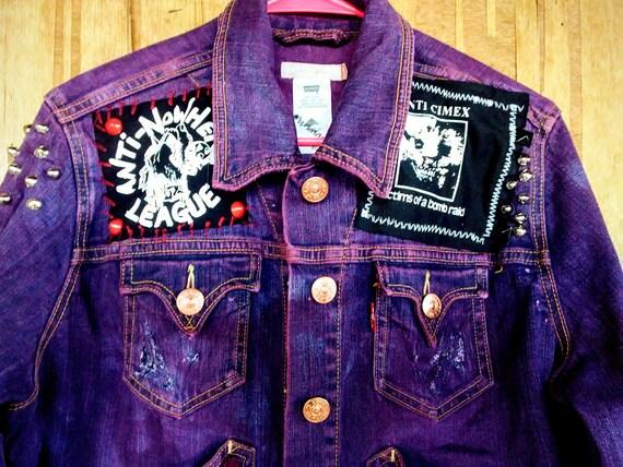 44439bf0772ac Studded Corset Jacket Plus Size Women s Punk Denim Leather