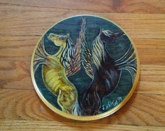 Winged Horses Hot Plate