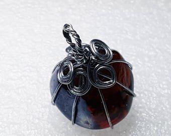 Blue Wire Wrap Necklace Wire Wrap Jewelry Boho Necklace Girlfriend Gift