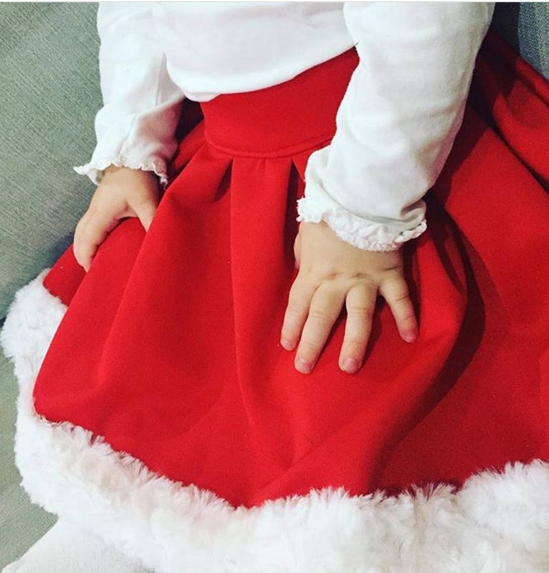 65008be58 Girls Christmas Skirt baby christmas skirt christmas dress red