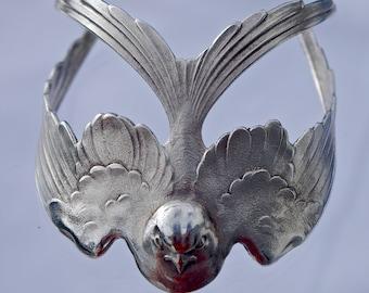 An Art Deco Flying Swallow Bracelet Cuff