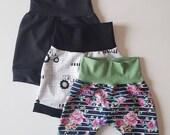 Ready to Ship / Grow-with-me Shorts / Baby Shorts / Toddler Shorts / Baby Clothes / Toddler Clothes / Baby Joggers / Maxaloons