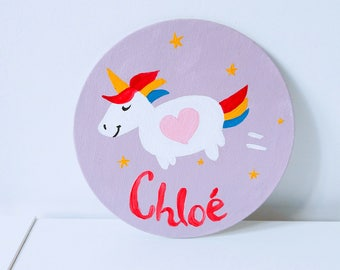 Handmade customizable painting / / baby or child's name / / child's room decor
