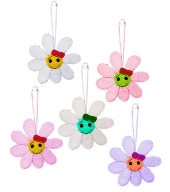 pattern Flower pendant // Patrón de ganchillo de colgante   Etsy