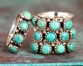 Boho Turquoise Ring, Sterling Silver Ring for Women, Stone Ring, Thumb Ring, Gemstone Ring, Western Jewelry