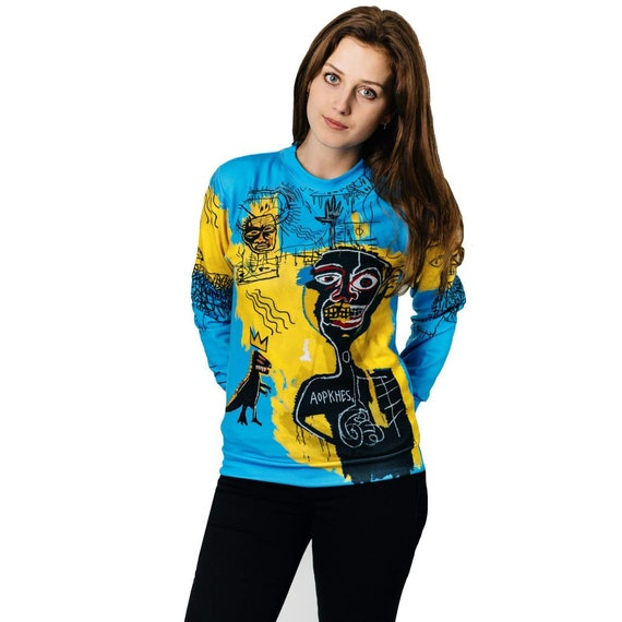 men 4xl nyc artistic usa vintage jumper wear street women designer psychedelic Basquiat art women sweatshirt sweatshirt graffiti men print F5IqS