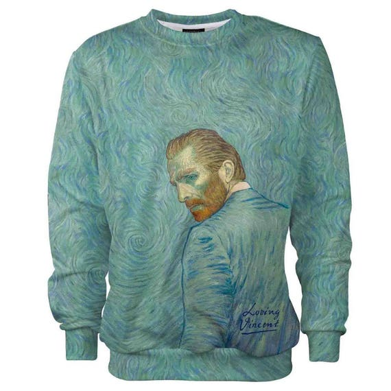 Gogh prints men trendy vintage sweatshirt women fashion jumper hippie painting men van clothing 4xl women designer art Loving Vincent cotton w0qtXX