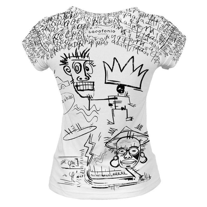 55b6ac00c287c Designer t shirt women designer African art King White psychedelic graffiti  hipster vintage plus size tees fall short sleeve black and white