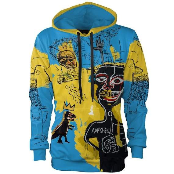 creative artistic nyc women Basquiat warhol men vintage sweatshirt graffiti hoodie hoodie hooded plus designer psychedelic 4x unique street nZ6xgwUqS